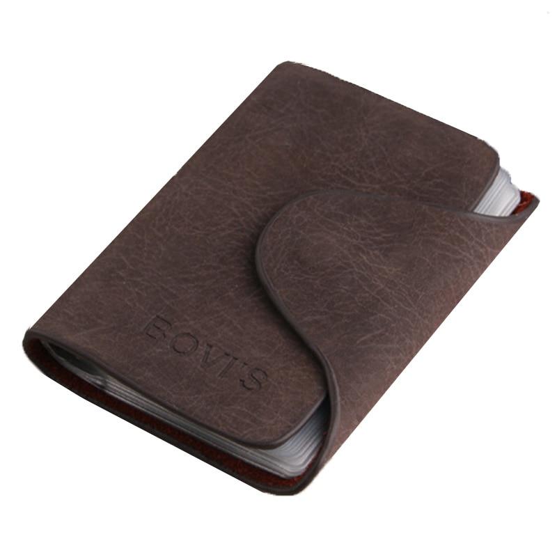 KUDIAN BEAR Titular de la tarjeta de crédito de la vendimia 20 Ranura para tarjeta Titular de la tarjeta de identificación de negocios PU de cuero tarjeta de los hombres titular de la tarjeta BIH016 PM30