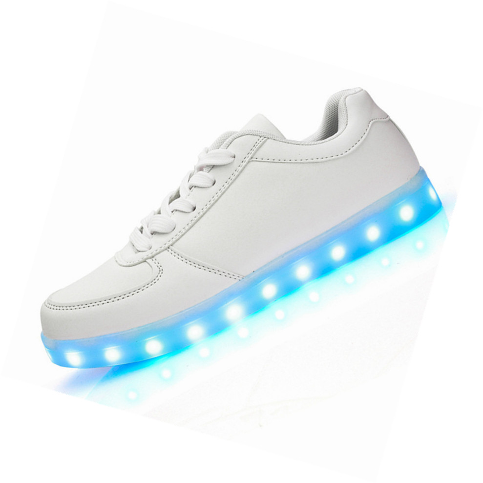 2017 LED shoes 11 Colors chaussures Unisex usb Charging Led Lights Emitting Luminous Men couple sport dance Casual Shoes
