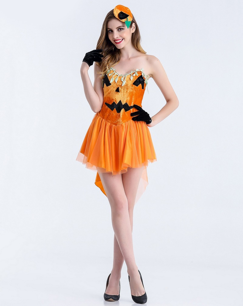 The dress halloween costume - Moonight Halloween Costume Suspenders Dress Small Pumpkin Costumes Shower With The Witch Costume China