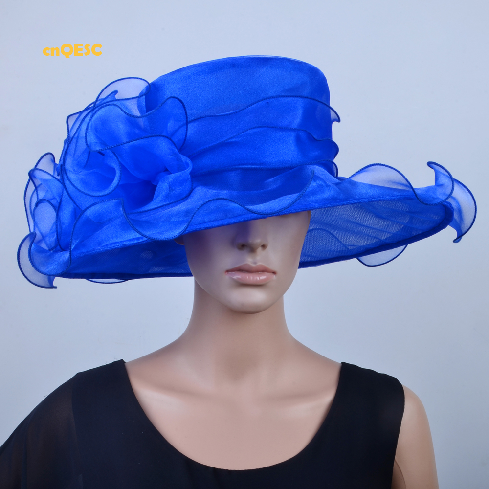 Wholesale NEW 13 colours Lime green Wide brim Crystal organza hat church hat  for kentucky derby weddding races.FREE SHIPPING-in Fedoras from Apparel ... 1062f5d33972