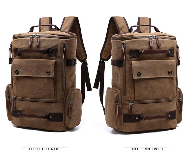 Men Laptop Backpack 15 Inch Rucksack Canvas School Bag Travel Backpacks for Teenage Male Notebook Bagpack Computer Knapsack Bags 8