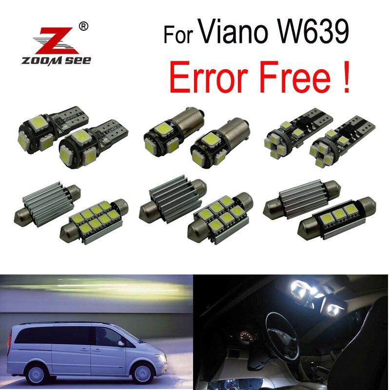 21 pz X Bel canbus Free error LED interno della cupola della lampada della luce Kit pacchetto Per Mercedes Benz Viano W639 (2003-2010)