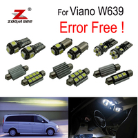 21pc X Nice canbus Error Free LED interior dome light lamp Kit package For Mercedes Benz Viano W639 (2003 2010)