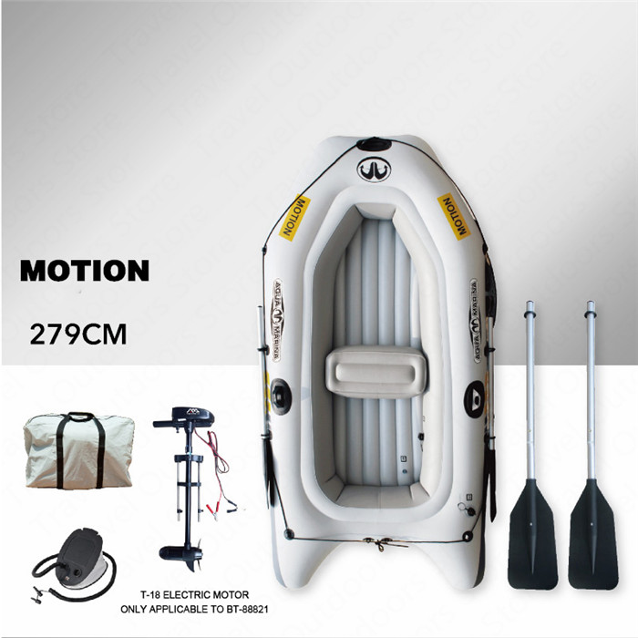 Barco hinchable AQUA MARINA MOTION, barco deportivo, Kayak de PVC, remo de barco, botes inflables de goma para dos personas, canoa con paleta