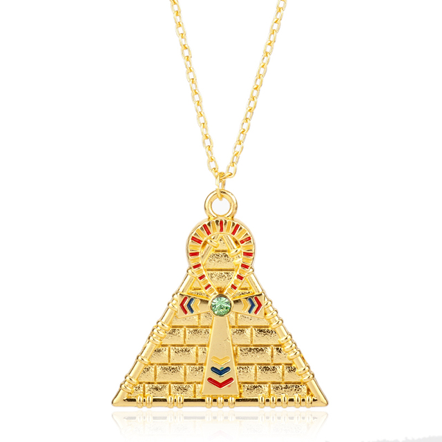 gold necklace queen nefertiti filigree egyptian pendant pendants