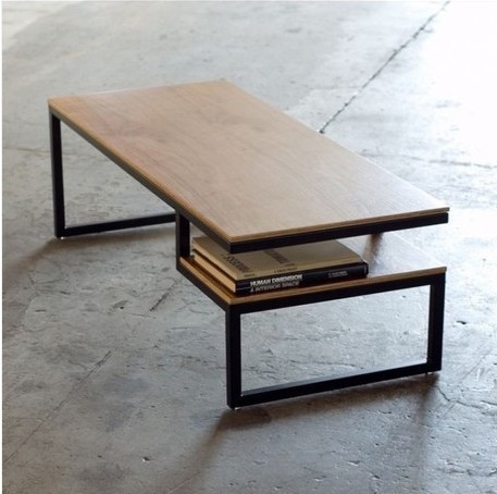 The village of retro furniture,The classical fashion wood and iron table,Double table,metal dining table,living room furniture simple fashion table desktop is mdf fine processing the leg of the table is made of solid beech black and white can be chosen