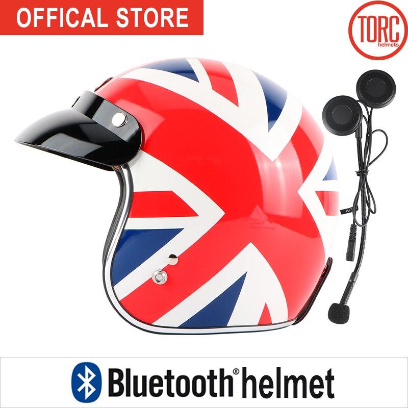 Bluetooth casco moto Classic Open face helmet Connect Phone Support call Retro Motorcycle helmet capacete California motoqueiro 1000m motorcycle helmet intercom bt s2 waterproof for wired wireless helmet
