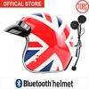 Bluetooth Casco Moto Classic Open Face Helmet Connect Phone Support Call Retro Motorcycle Helmet Capacete California