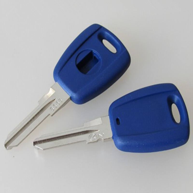 transponder key shell case For Fiat Palio siena Key Shell GT15R Blade Blue color