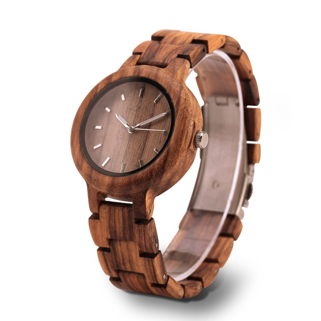 GNART Wooden Watches relojes para mujer Women 2018 Wood Watch Fitness Watch for Ladies Brown Relogio Feminino                    1
