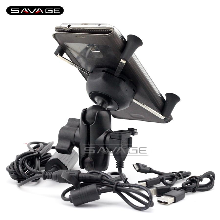 ФОТО For HONDA CB300F CB500F CB500X CB650F CB1100 Motorcycle Navigation Frame Mobile Phone Mount Bracket with USB charge port
