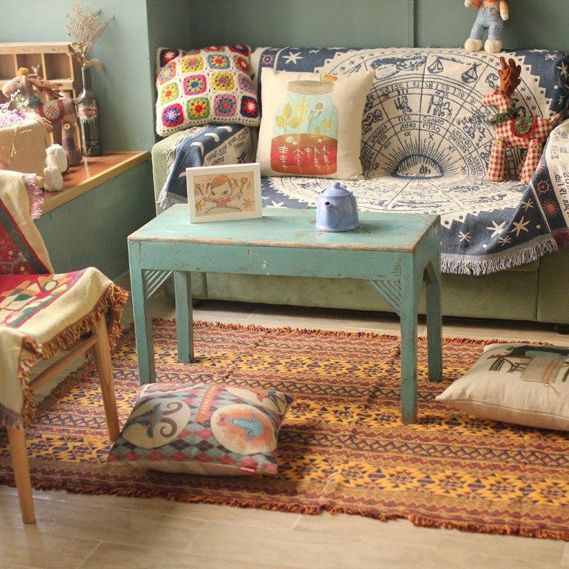 DIY Craft collectie Tafelkleed cappa sjaal mantel tapijt Hand verslaafd mode gehaakte deken kussen vilt Indische stijl tapijt gift