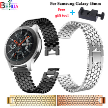Watch band For Samsung Galaxy watch 46mm watchband wristband Stainless Steel strap For Samsung Gear S3 22mm Luxury Accessories все цены