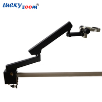 Luckyzoom Trinocular Microscope Stand Articulating Arm With Clamp For Stereo Zoom Microscopio A3 Focus Accessories Free Shipping