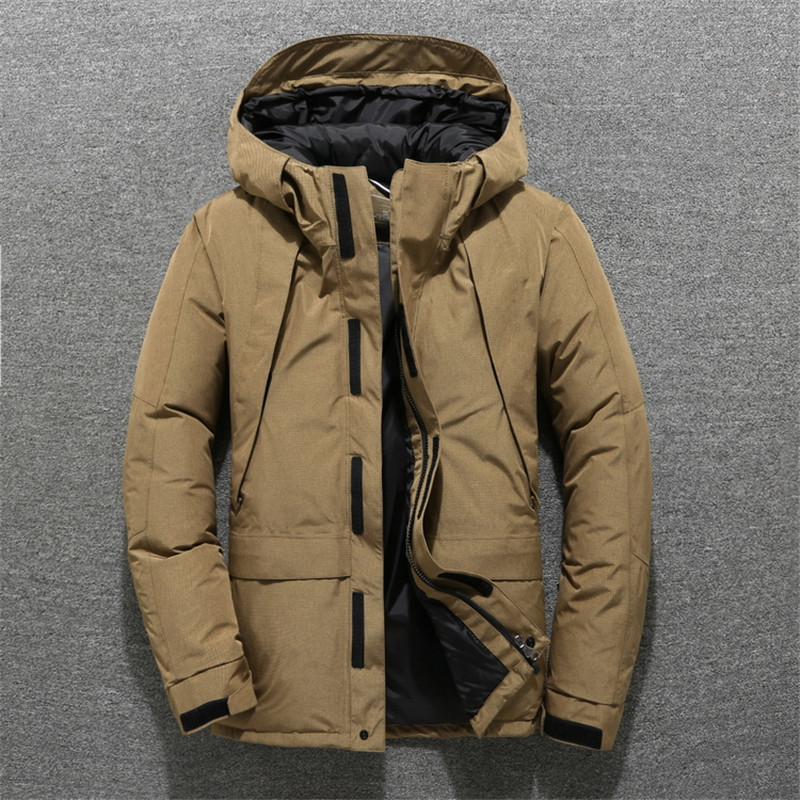 Новый дизайн модная мужская пуховая куртка высокого качества толщиной 90% Белая куртка с утиным пухом Мужская ветровка теплая мужская зимня...