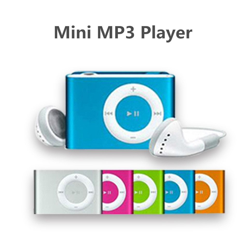 MP3 Music Media Mini Clip Metal USB Classic MP3 Player With Earphone Support Micro 108G SD