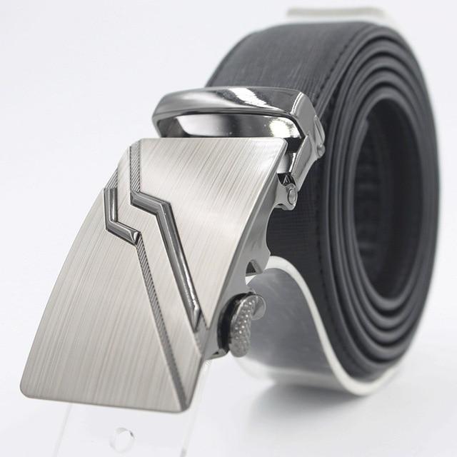 Men Belts Designers Luxury 2016 Cowskin Men Belt Leather Automatic Buckle Belt For Jeans