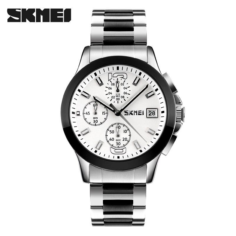 2016 Original Business Watches Men Luxury Hardlex Waterproof Wristwatches Auto Date Stop Watch SKMEI Brand 9126