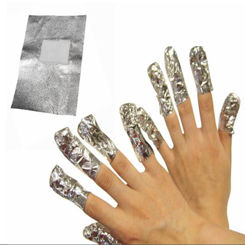 50pcs Nail Art Aluminum Wraps To Foil Soak Off Uv Gel Polish Acrylic Remover