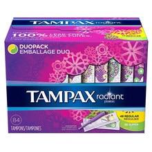 84 pièces Tampax Tampon rayonnant imperméable à l'eau anti-fuite Tampones 48 pièces régulier et 36 pièces Super absorbance serviette hygiénique menstruelle