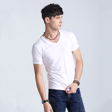 2019 Hot! New Men's Summer Tops Tees Men's Casual Slim Fit Stylish V Neck T-
