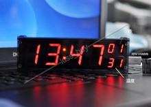 1.2 «DS3231 Цифровые часы модуль светодиодные электронные часы с температура сигнализация дисплей + корпус dc 12 В 24 В автомобиля функция памяти