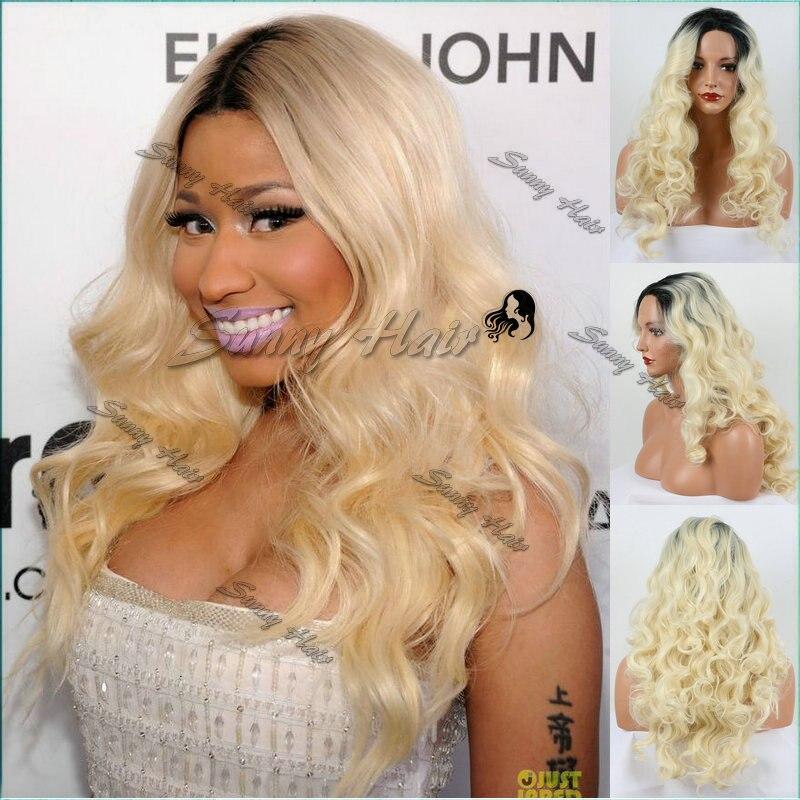 Nicki Minaj Blonde Curly Hair Wig 64