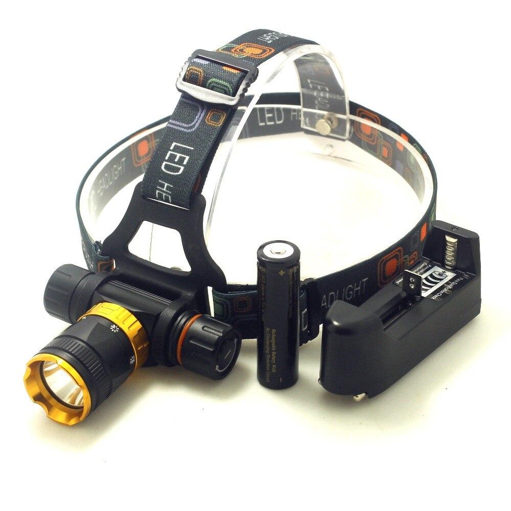 2Pc Portable Lampe Torche Imperméable LED T6 Extérieur avec Piles /& Chargeur