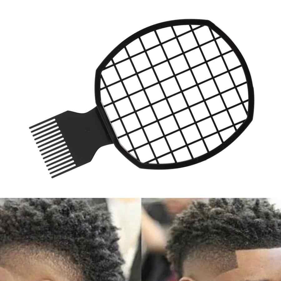 Czarne plastikowe dredy grzebień mężczyźni Afro kręcone grzebień do włosów dredy cyny folią na gorąco folia Perm grzebień fryzjerstwo narzędzie do stylizacji włosów