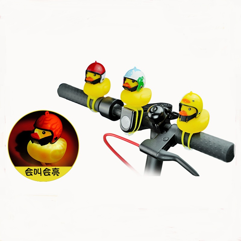 Scooter-Parts Bell Duck-Bell-Horn E-Bike-Head-Light M365 Xiaomi Mijia Yellow Cute