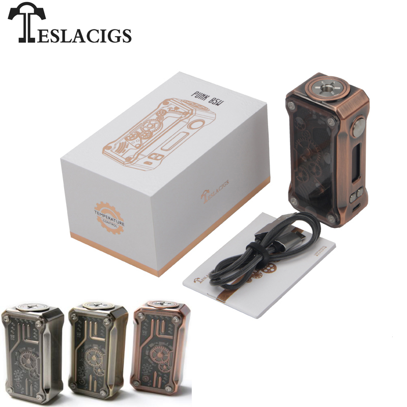 Original Teslacigs Tesla Punk Mod boîte Vape 85 W soutien RDA/RTA/RDTA Cigarettes électroniques vaporisateur Vape Mods