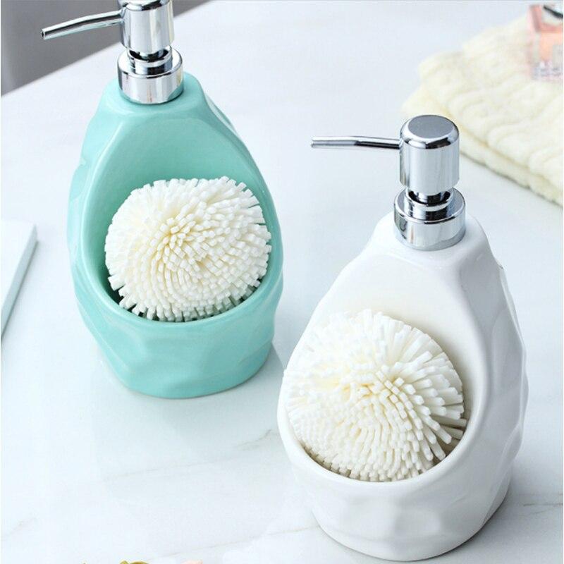 650lml Flüssigkeit Seife Dispenser für Küche Keramik + ABS Bad Hause Dekoration Flüssigkeit Seife Lotion Dispenser Bad Zubehör