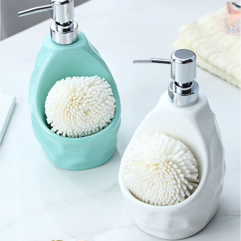 650lml Liquid Soap Dispenser For Kitchen Ceramic +ABS Bathroom Home Decoration Liquid Soap Lotion Dispenser Bathroom Accessories