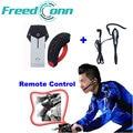 Remote Control + Earhook Earphone! 2*1000M Bluetooth Bicycle/Bike Riders Helmet Headset Interphone Waterproof Headset