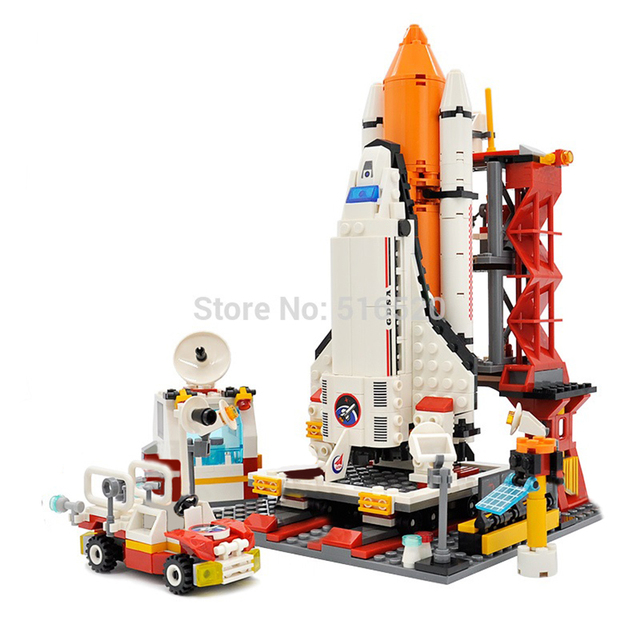 City Spaceport Space Shuttle Launch Center Building Block 679pcs 2