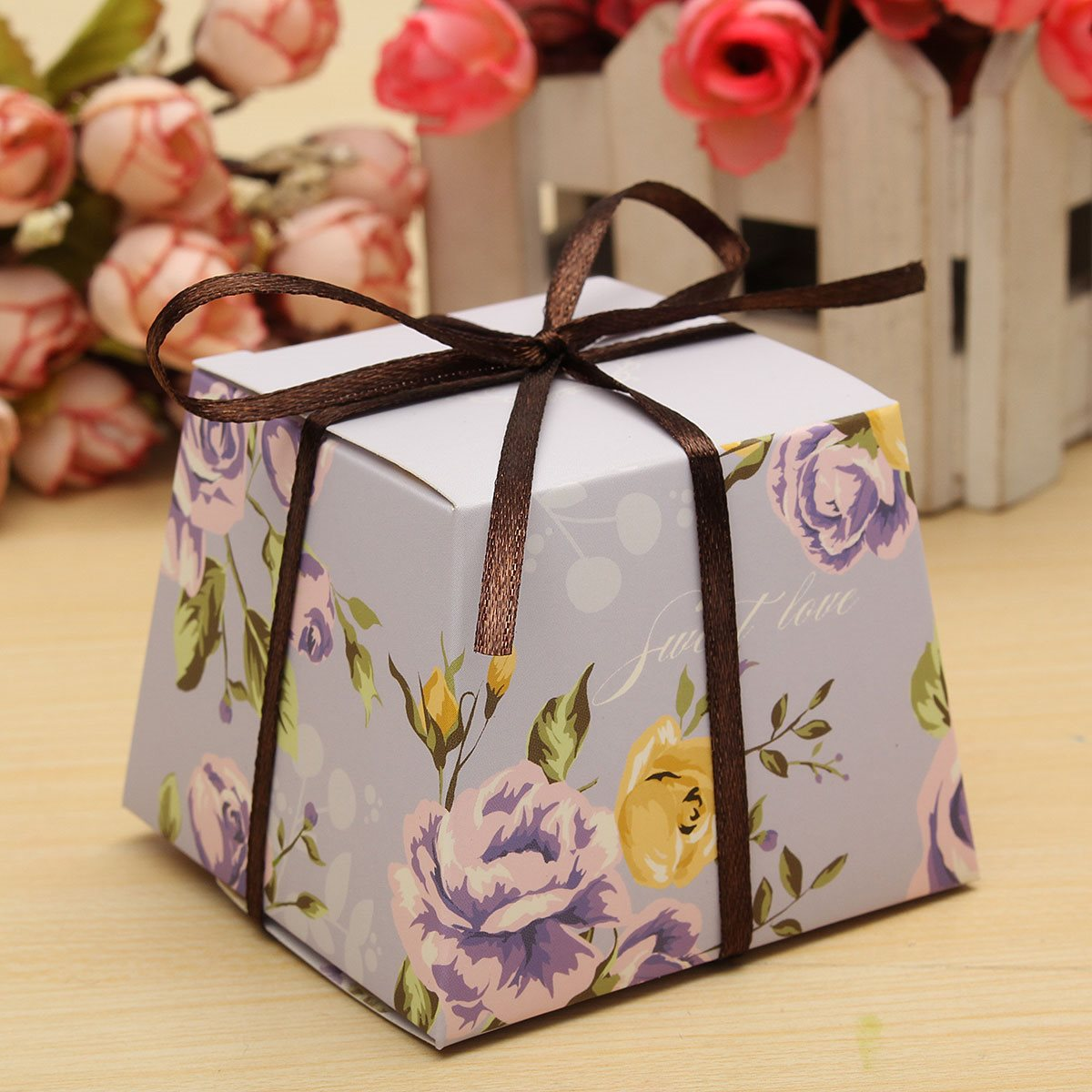 Aliexpress.com : Buy 10 Pcs Floral Paper Candy Boxes Chocolate Box ...