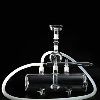 Thick MP5X glass shisha hookah oil collector kaloud metal charcoal holder silicone bowl super luxury nargile tank chicha pipes