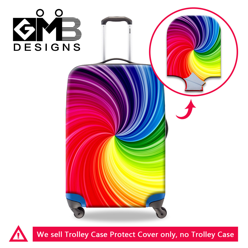 2f922d6d70c3f Buy Cheap Dispalang colorful design travel luggage cover thick protective  suitcase covers elastic 18 30 inch anti dust trolley case covers Price