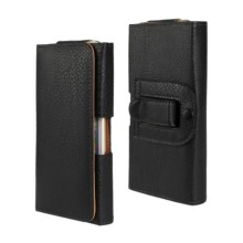 Newest Waist Case Holster PU Leather Black Brown Pouch Cover Case for Huawei Ascend G7 Mobile Phone Bag