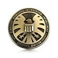 De Bronze do vintage de Metal Grosso SHIELD S.H.I.E.L.D. Rodada Pássaro Totem Logotipo Do Emblema Do Emblema Car Styling Tampa De Combustível Do Corpo Adesivo de Qualidade Superior