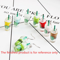 Mini Order 10PCs 3D Plastic Resin 3D Coffee Cup Pendant Charms Fit Fashoin Keyring Phone Chain