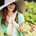 Корейские красочные конфеты цветной сладкий цвет кристалл браслет - фото