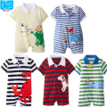 Newborn Baby Rompers Summer Baby Boys Clothes Cute Cartoon Baby Boys Girls Rompers Short Sleeve Polo Rompers Baby Girls Clothes