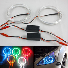 100mm LED Halo Ring Headlight for Motocycle white yellow blue Cr ee Angel Eyes Kit halo rings kits Volvo