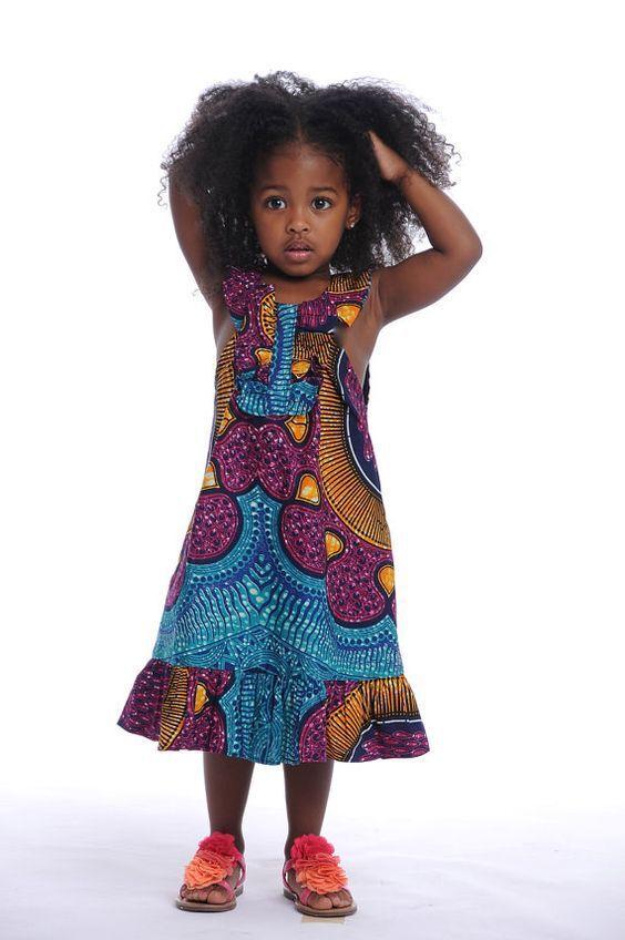 2017 Robe Africaine Robe Africaine Directe Vente Spandex Filles Africain  Bazin Riche Robes Nouveau Style De Mode Enfants Vêtemen.