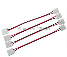 10pcs Solderless Connector with Wire for Single Color 5050/5630 SMD Led Strip