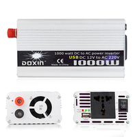 USB 1000W Watt DC 12V to AC 220V Portable Car Power Inverter Charger Converter Adapter DC 24V to AC 110 Modified Sine Wave