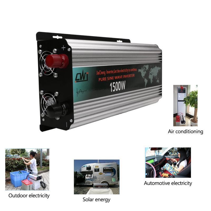 Pure Sine Wave Inverter 1500W Portable Car Power Inverter Converter 12V to 220V Vehicle Charger DC 12V24V To AC 110V220V (2)