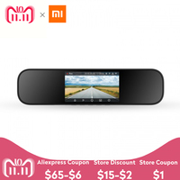 Xiaomi MIJIA 5 Inch Car DVR Touchscreen 1080P Smart Rearview Mirror Dash Cam Support Voice Control Double Recording Function