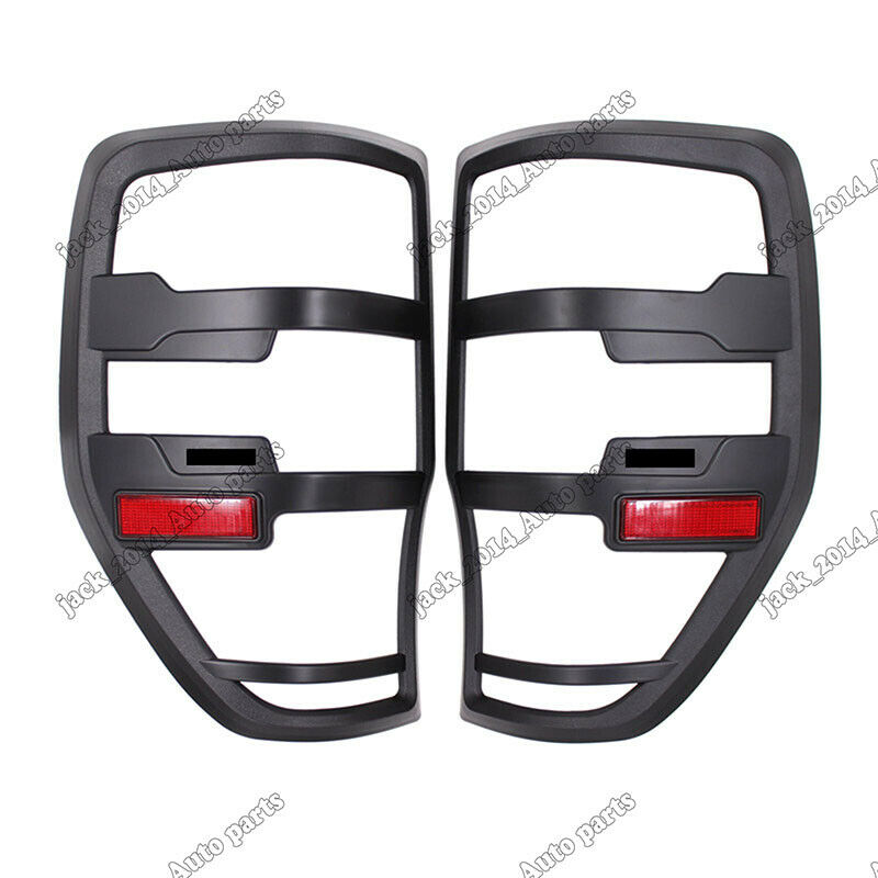 BLACK TAIL LIGHT LAMP REAR BACK COVER TRIM FIT FOR FORD RANGER T6 MK2 2011 2012 2013 2014 2015 2016 2017 2018
